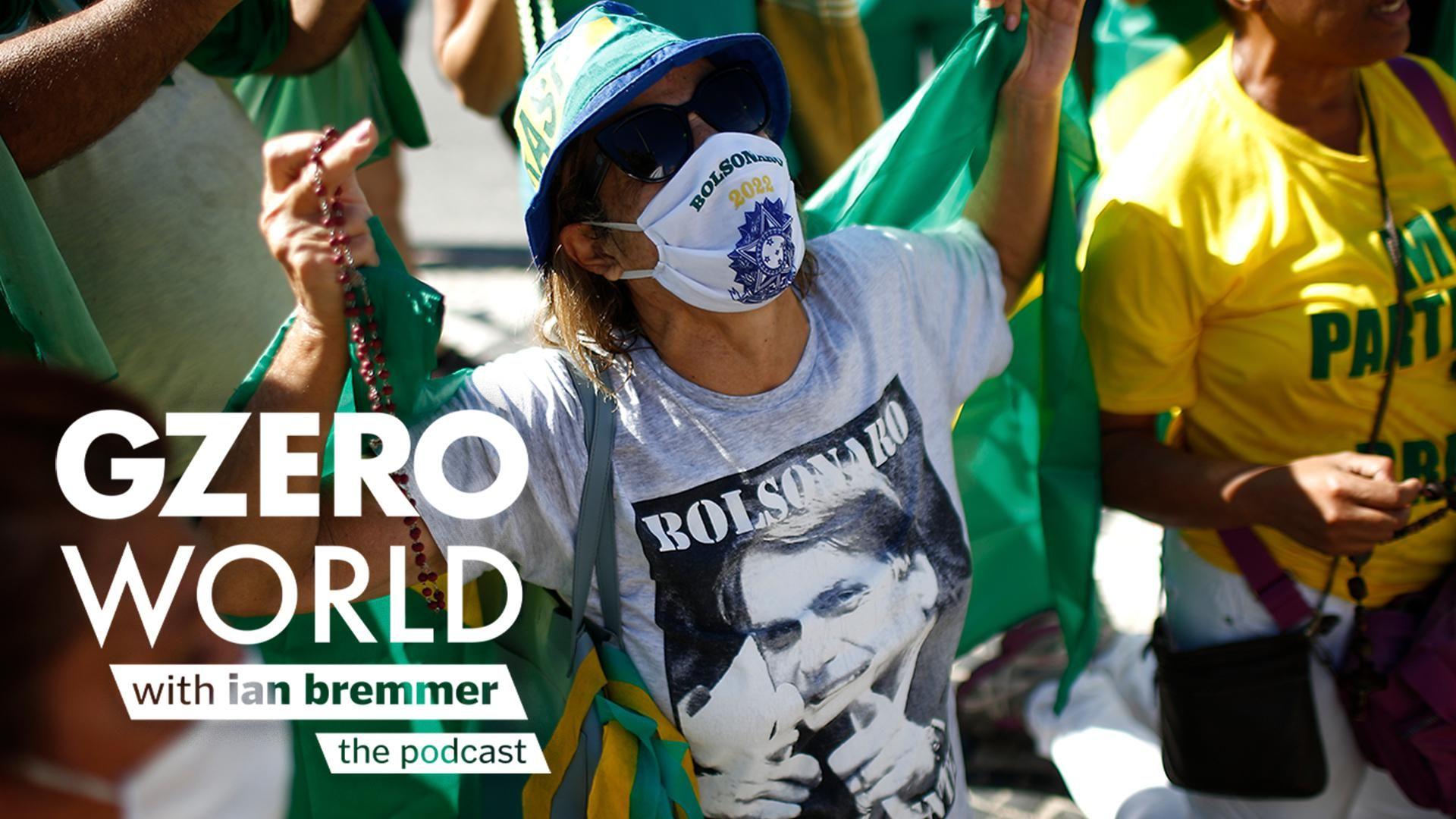 A Bolsonaro supporter in Brazil