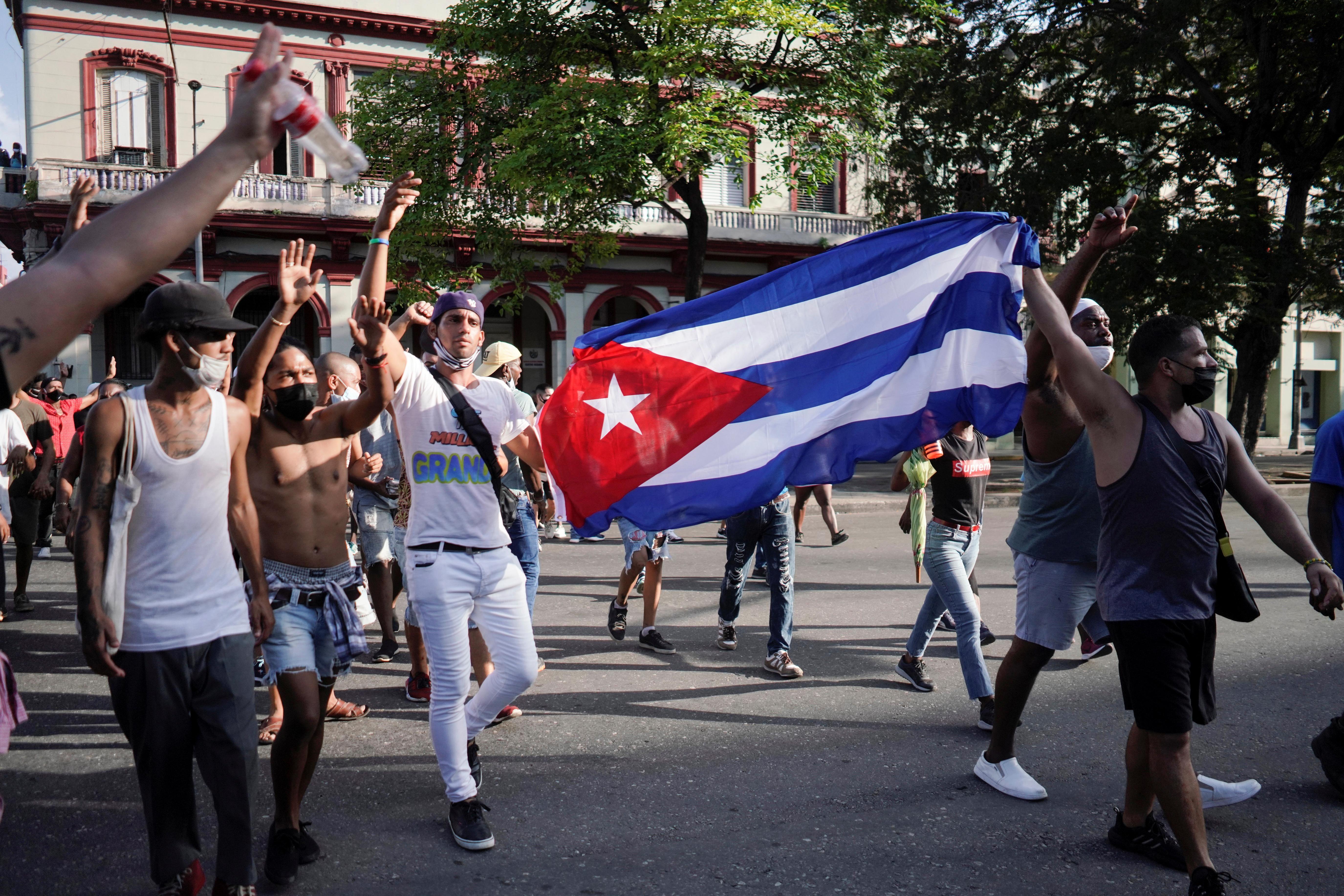 A rare revolt in Cuba