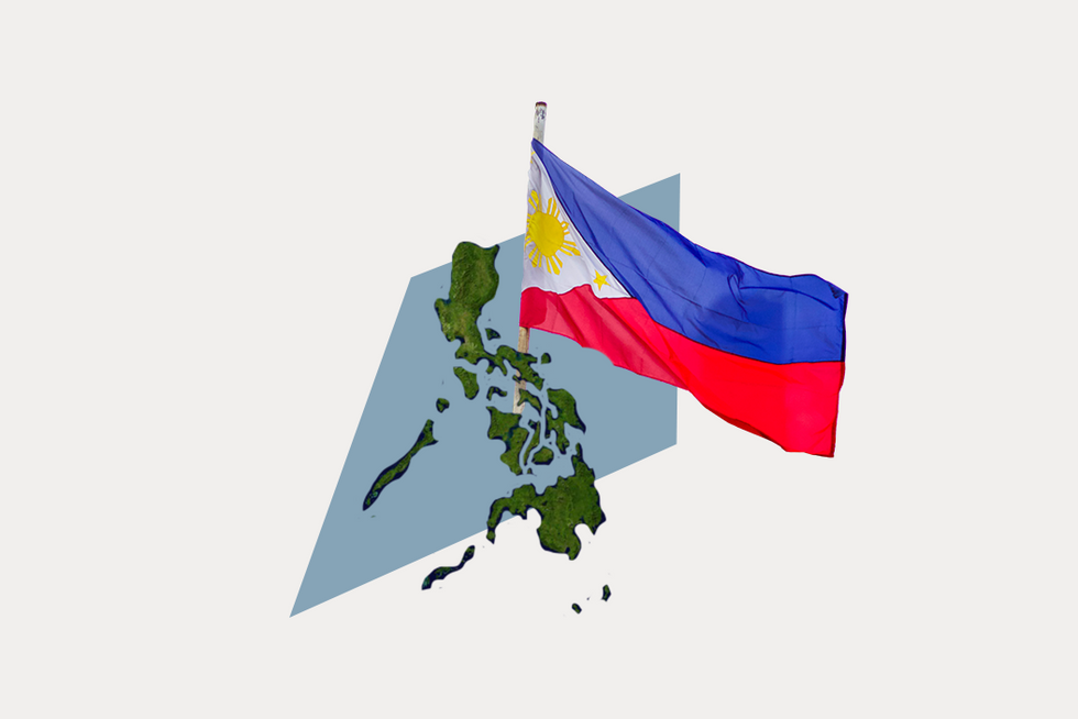A stylized map of the Philippines