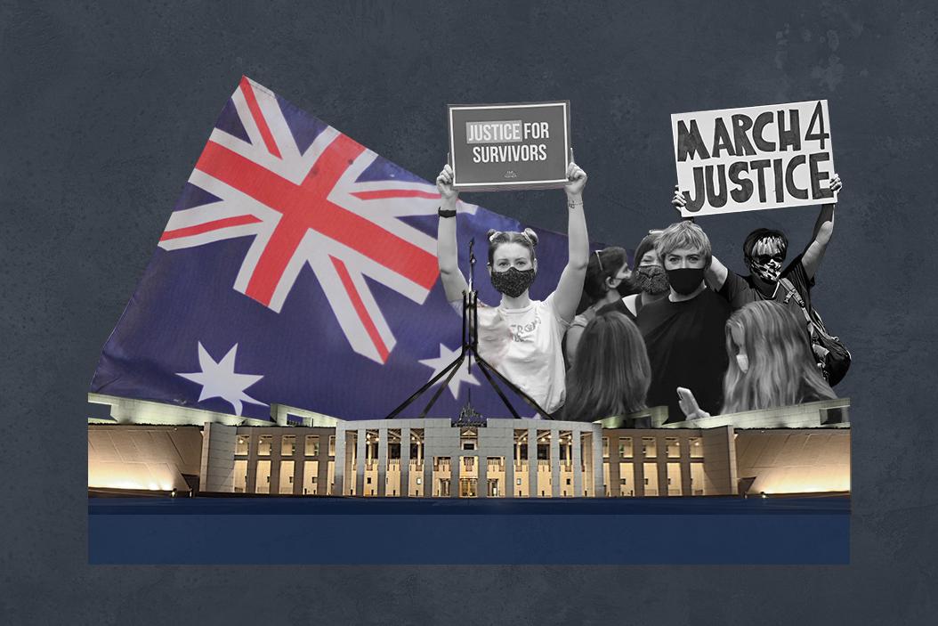Australian women protesting