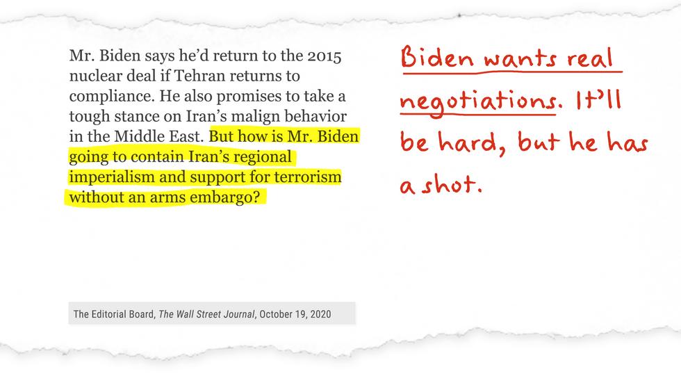 Biden wants real negotiations. It'll be hard, but he has a shot.