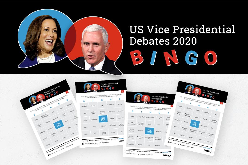Debate Bingo - GZERO Media US Vice Presidential Debates 2020 BINGO