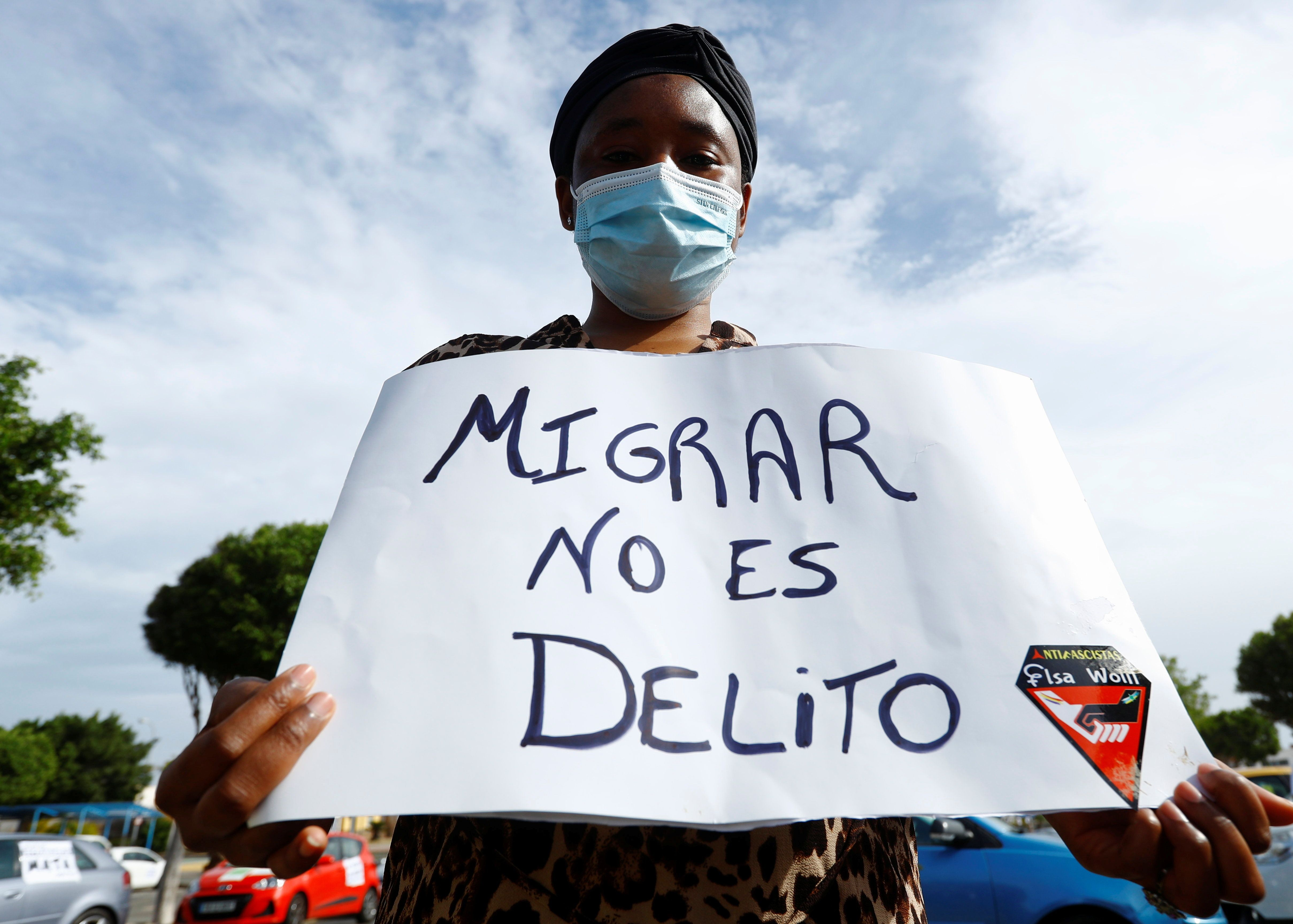 Demonstration in favor of the rights of migrants in the Canary Islands, Spain. Reuters