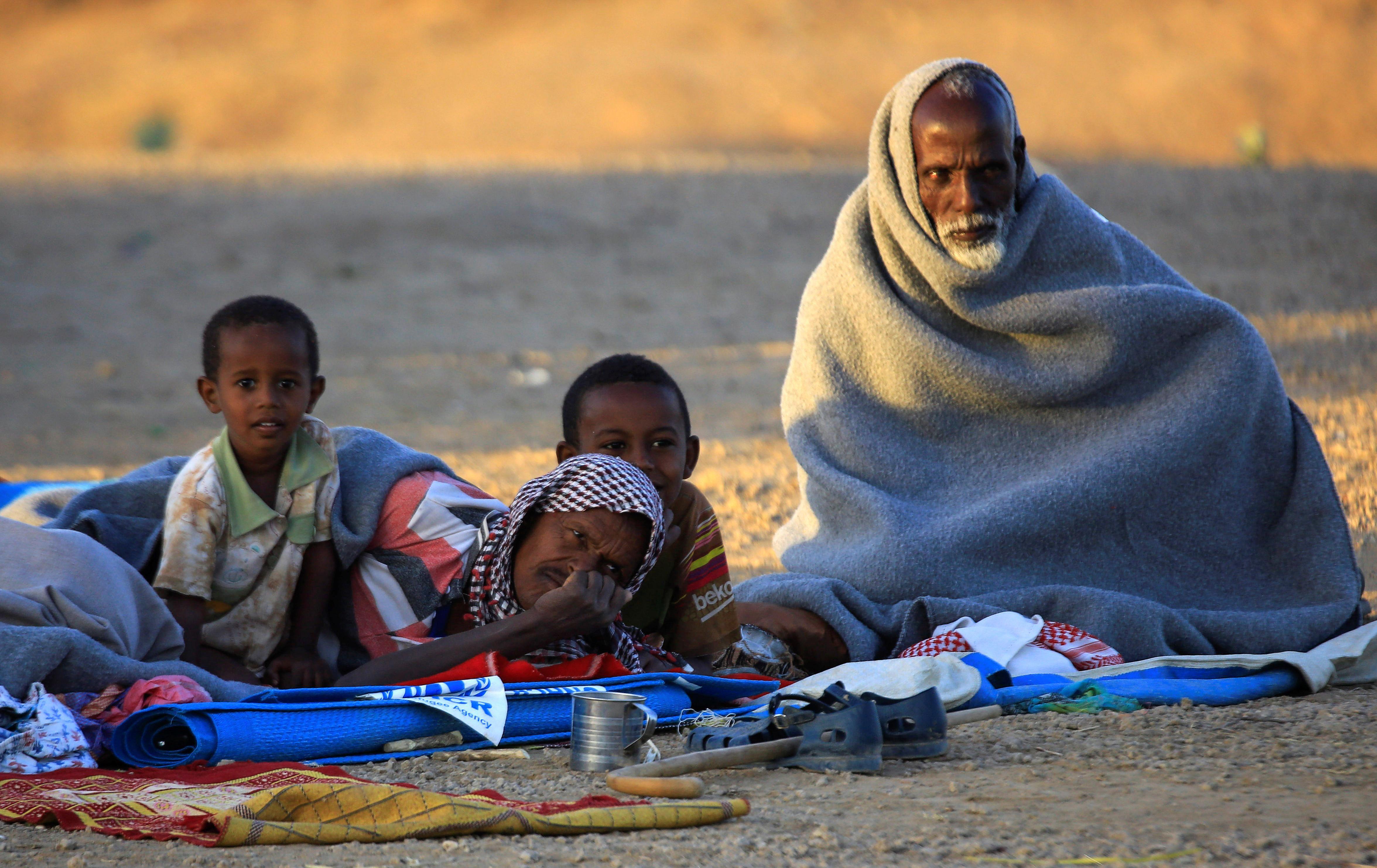Ethiopians fleeing from Tigray cross into Sudan. Reuters
