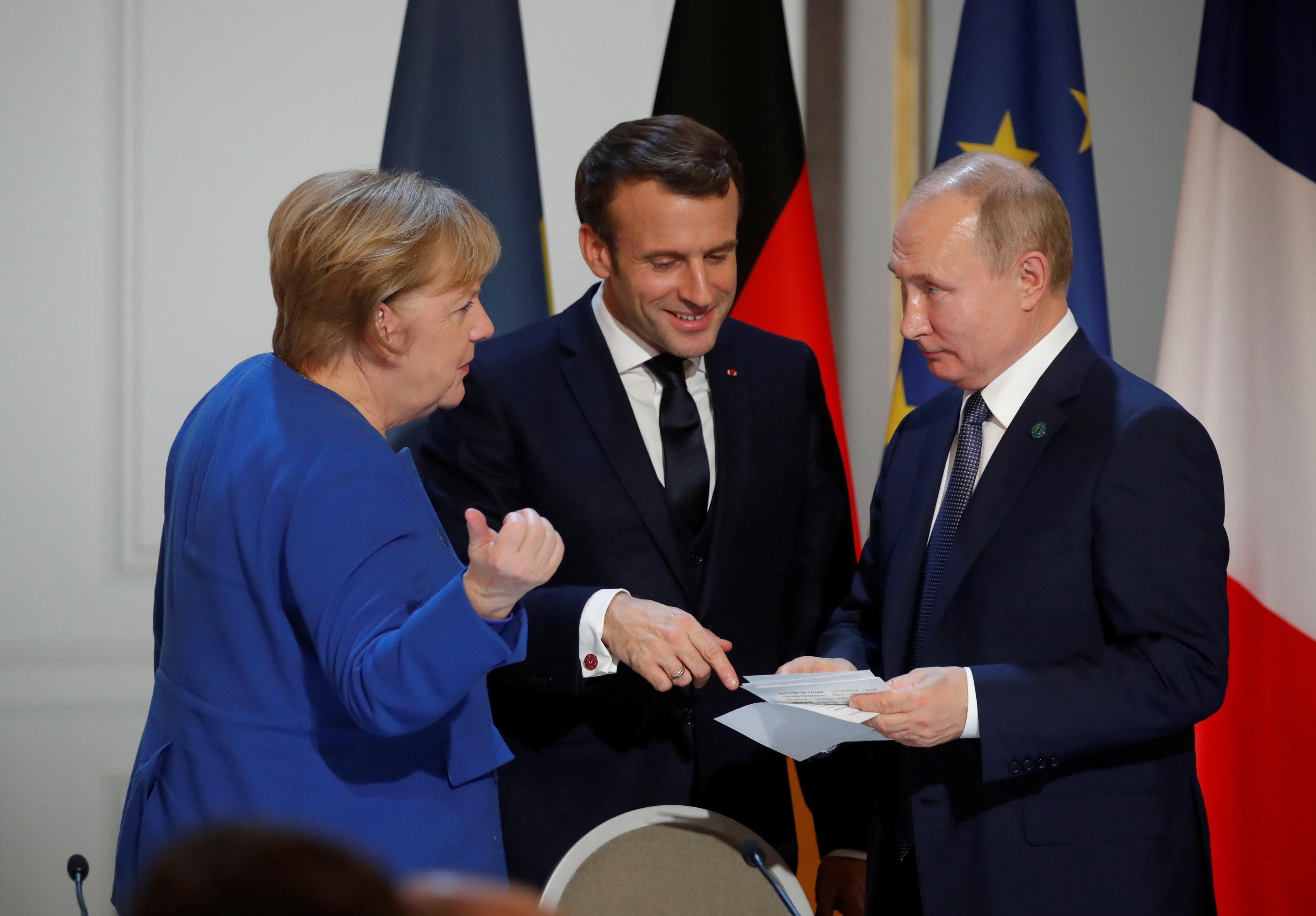 European leaders and Russian President Vladimir Putin