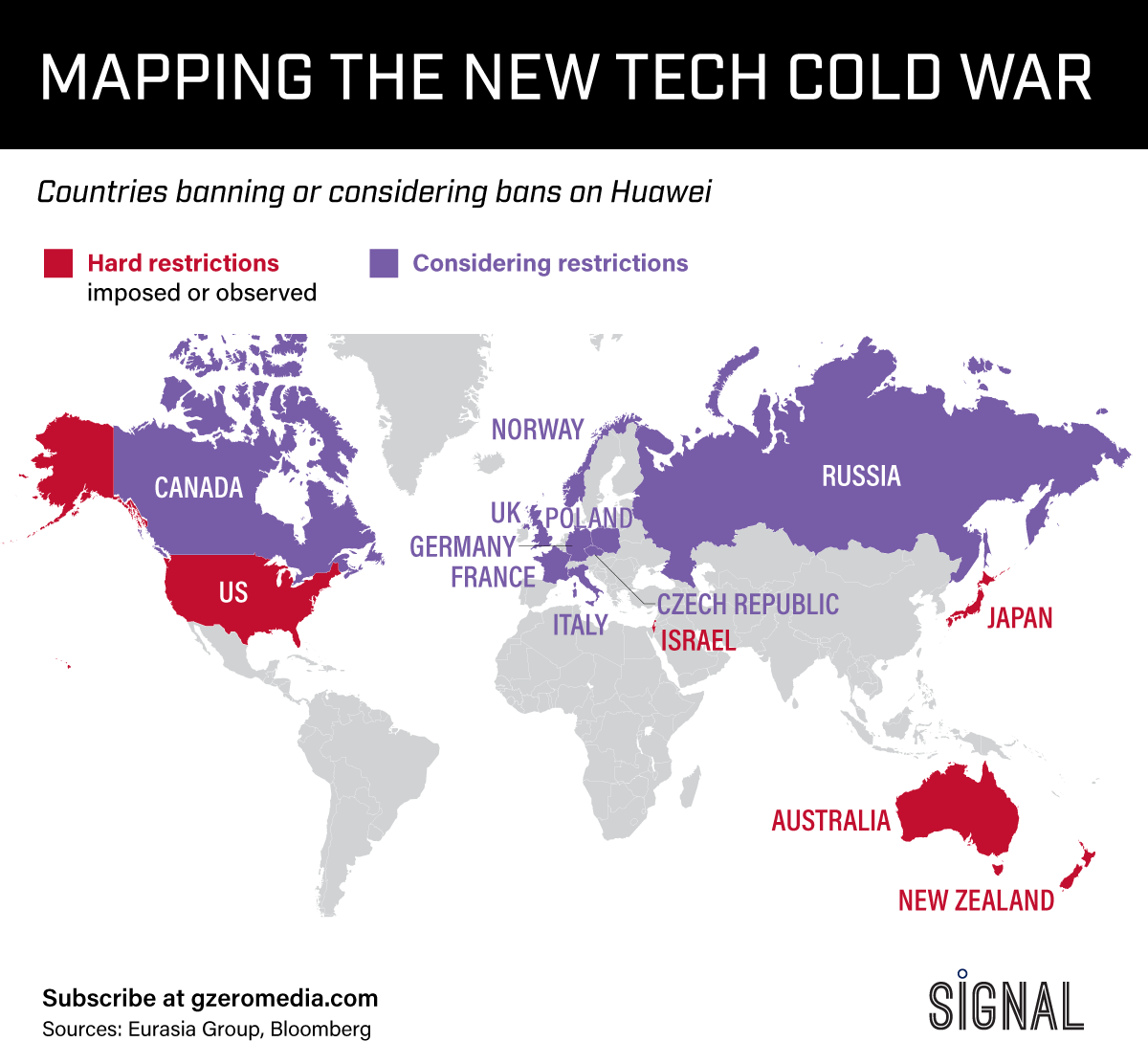 The Graphic Truth: Mapping The New Tech Cold War