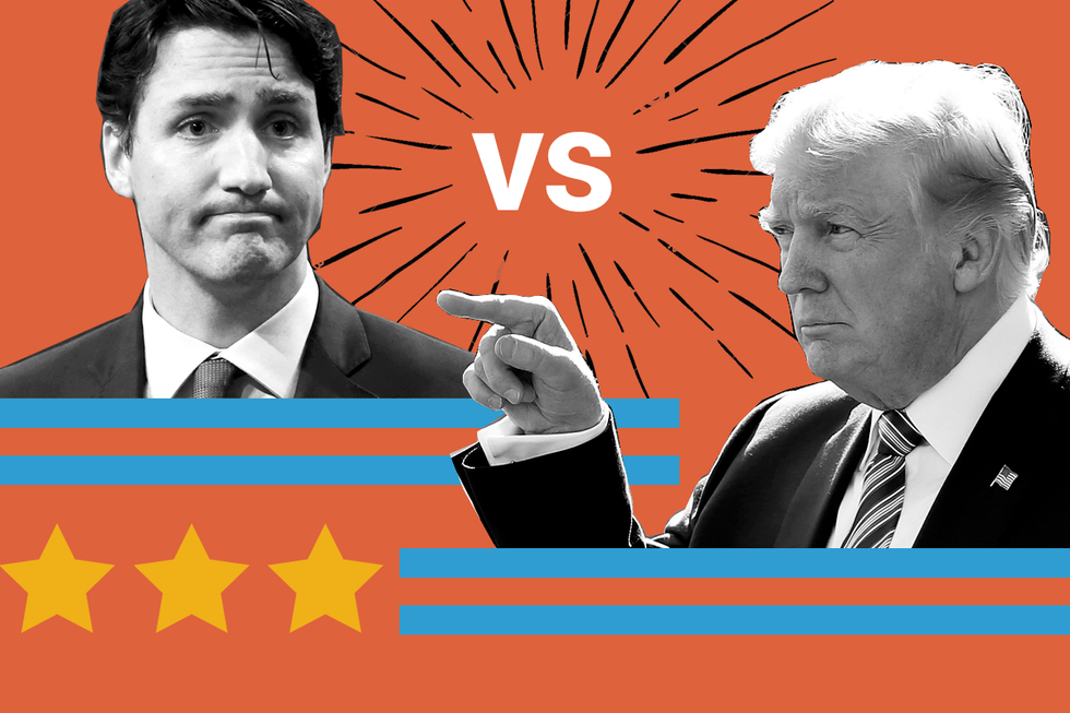 Donald Trump and Justin Trudeau: The opposite of a love story