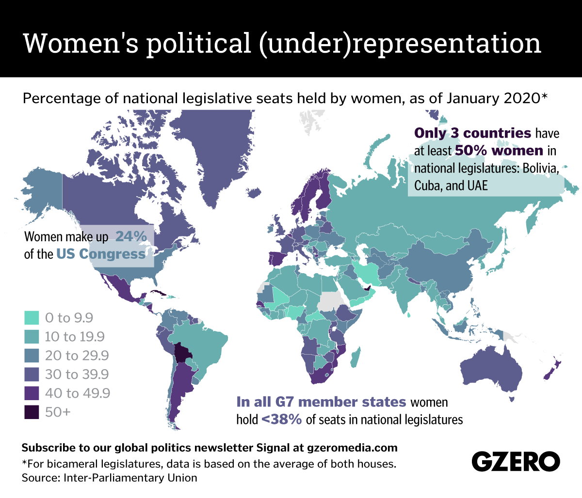 The Graphic Truth: Women's political (under)representation