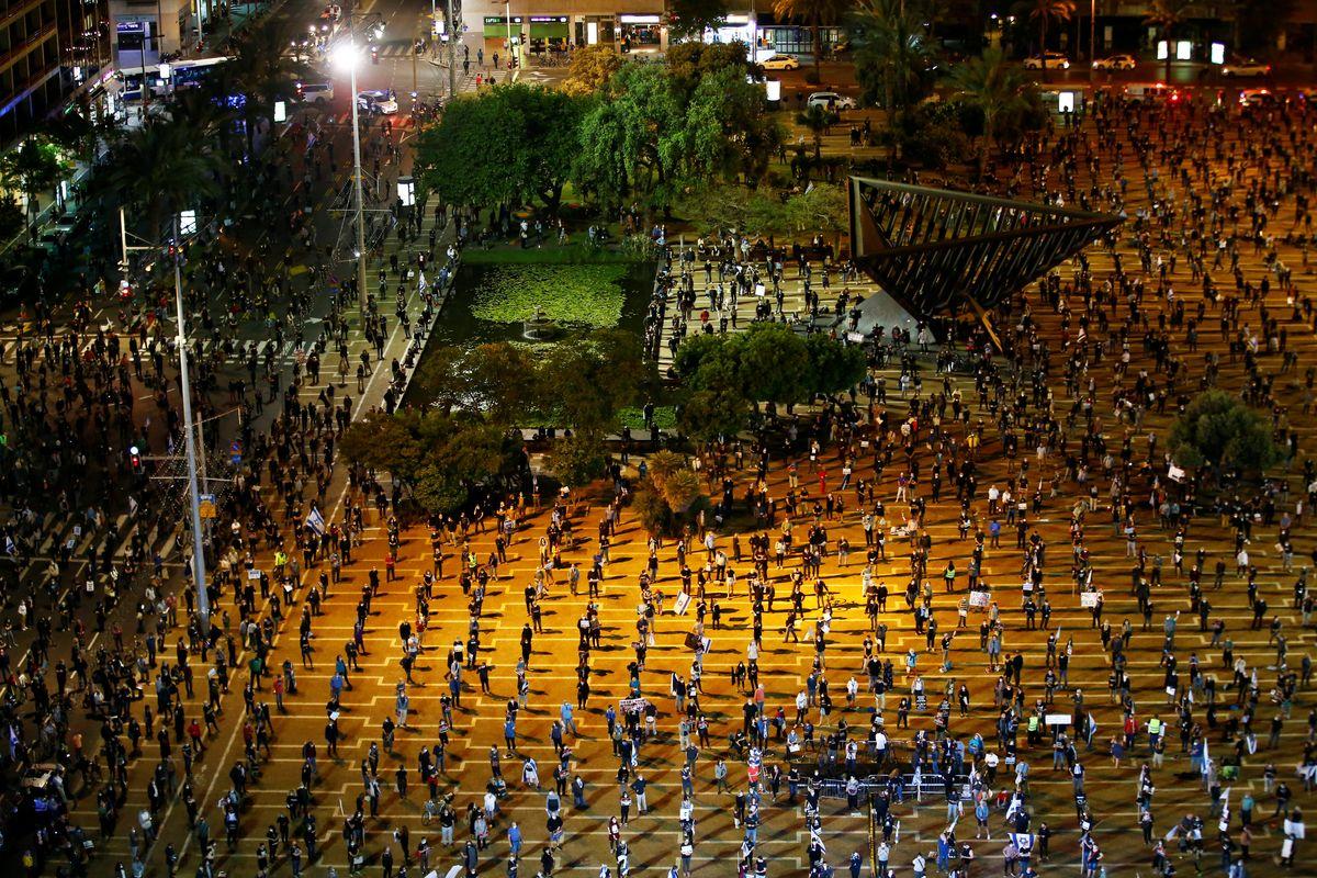 Hard Numbers: Tel Aviv's socially distanced protests,Turkey's covid-19 surge, crude drops below zero