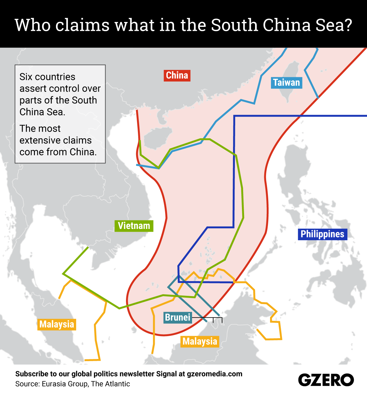 The Graphic Truth: Who claims what in the South China Sea?