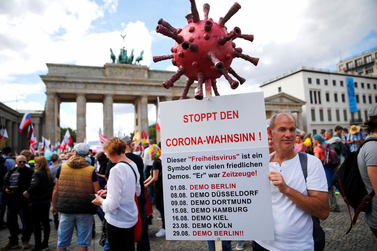 Hard Numbers: Berlin's anti-lockdown protests, global COVID cases top 25 million, divided Americans, Oslo bunker tragedy