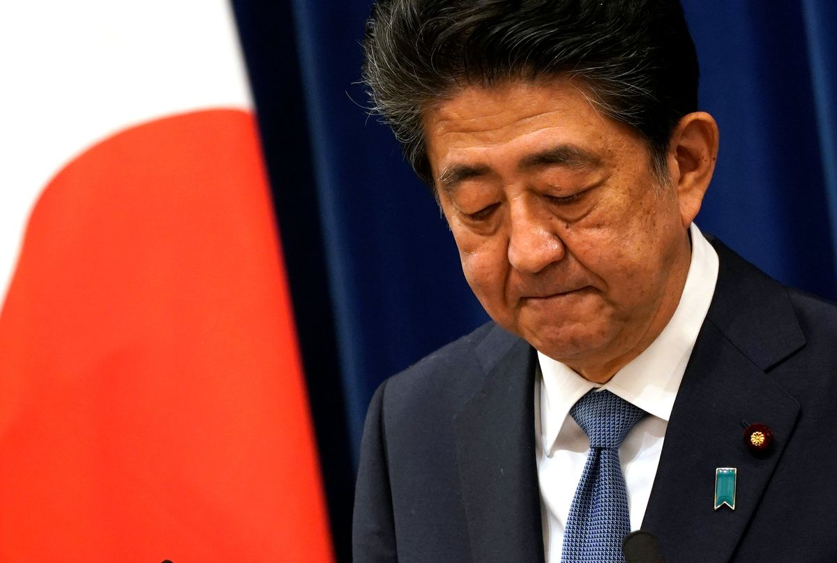 photograph of Japanese Prime Minister Shinzo Abe