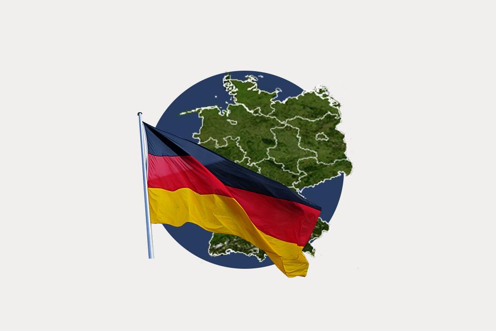 A stylized map pf Germany