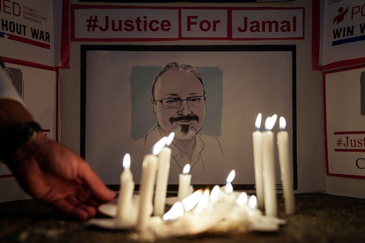 A Vigil is held at Saudi Embassy for Journalist Jamal Khashoggi