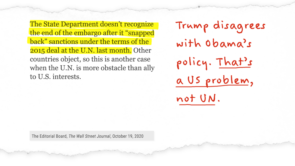Trump disagrees with Obama's policy. That's a US problem, not UN.