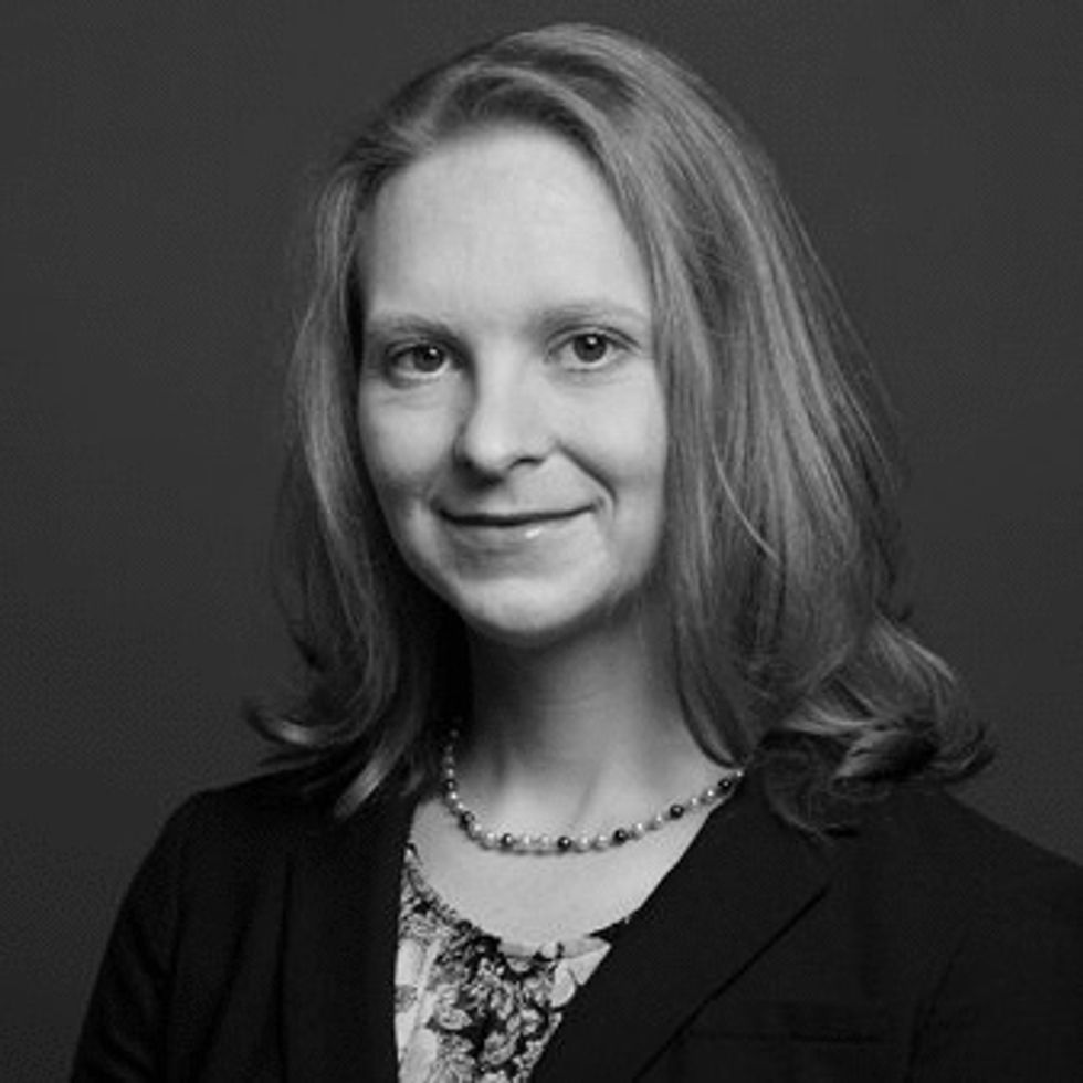 Caitlin Dean.  Head of Financial & Professional Services, Eurasia Group
