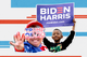 Images of a Trump supporter and child holding a Biden-Harris sign