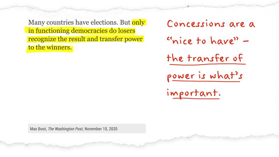 "Concessions are ""nice to have"" - but the transfer of power is what's important."
