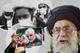 Iran's Supreme Leader Ayatollah Ali Khamenei alongside an activist holding an image of slain Iranian general Qassem Soleimani