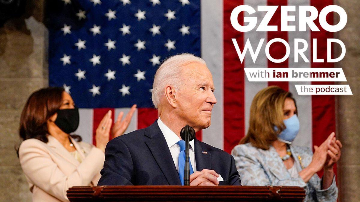 Joe Biden speaking in Congress after his first 100 days