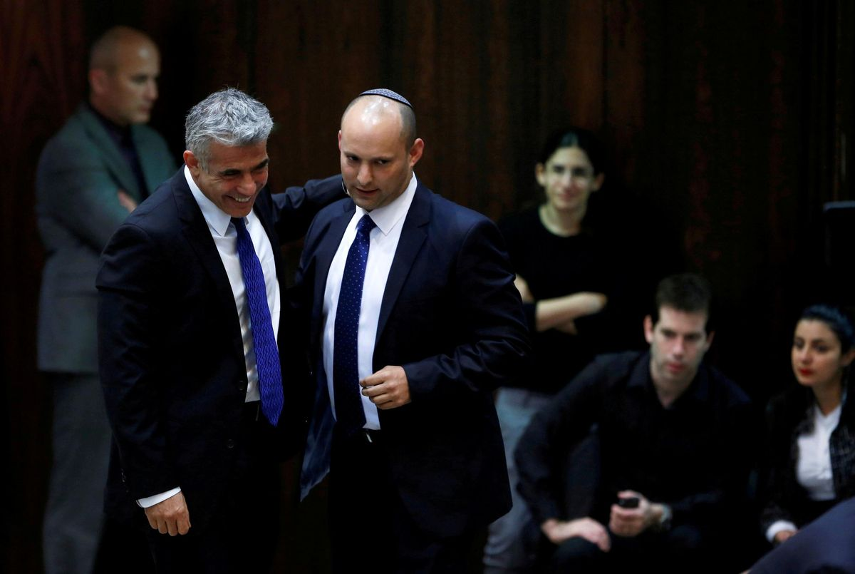 Yesh Atid leader Yair Lapid and Yamina leader Naftali Bennett