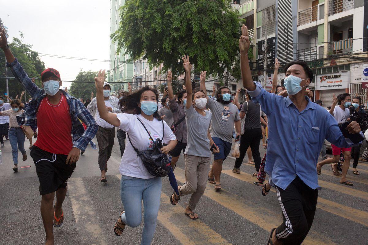Hard Numbers: Myanmar flash mob, global food prices soar, US donates jabs, Denmark's anti-asylum stance