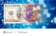Image of a digitally-altered one hundred dollar bill with colored pixels in the foreground and a blue digital grid in the background.