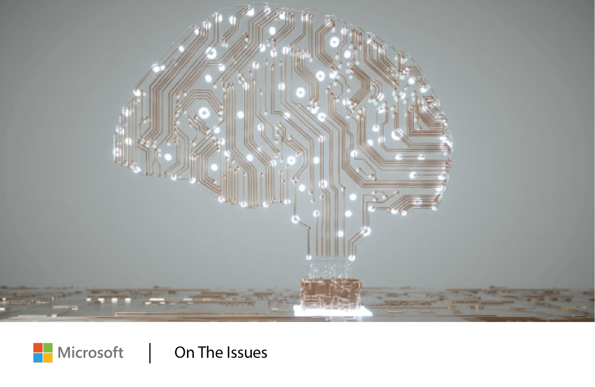 An abstract image of a brain with high tech neural connections. Get the latest from Microsoft on the most pressing policy issues.
