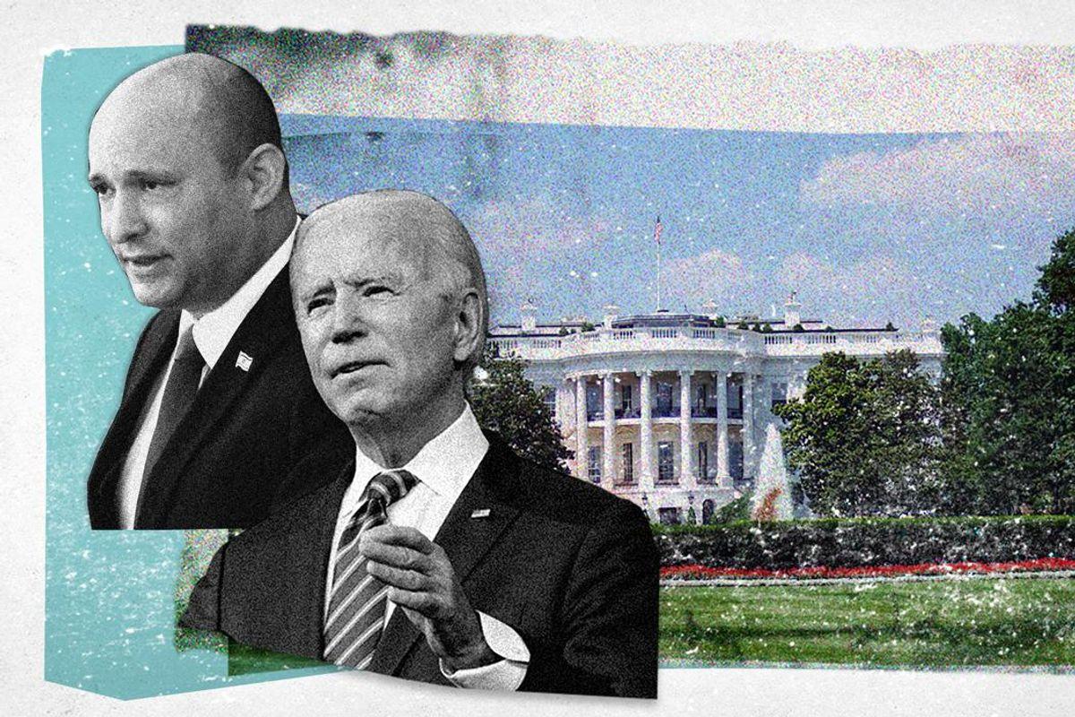 Israel's PM Naftali Bennett and US President Joe Biden