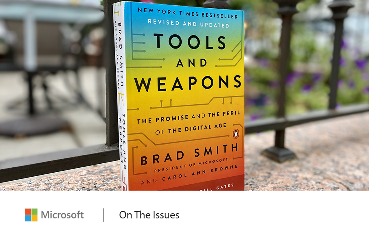 Colorful cover of the book titled Tools and Weapons by Brad Smith