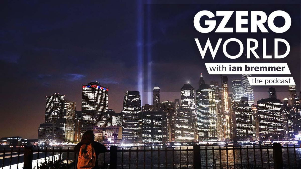 A 9/11 memorial beams of light over the New York skyline -  A safer America 20 years after 9/11?
