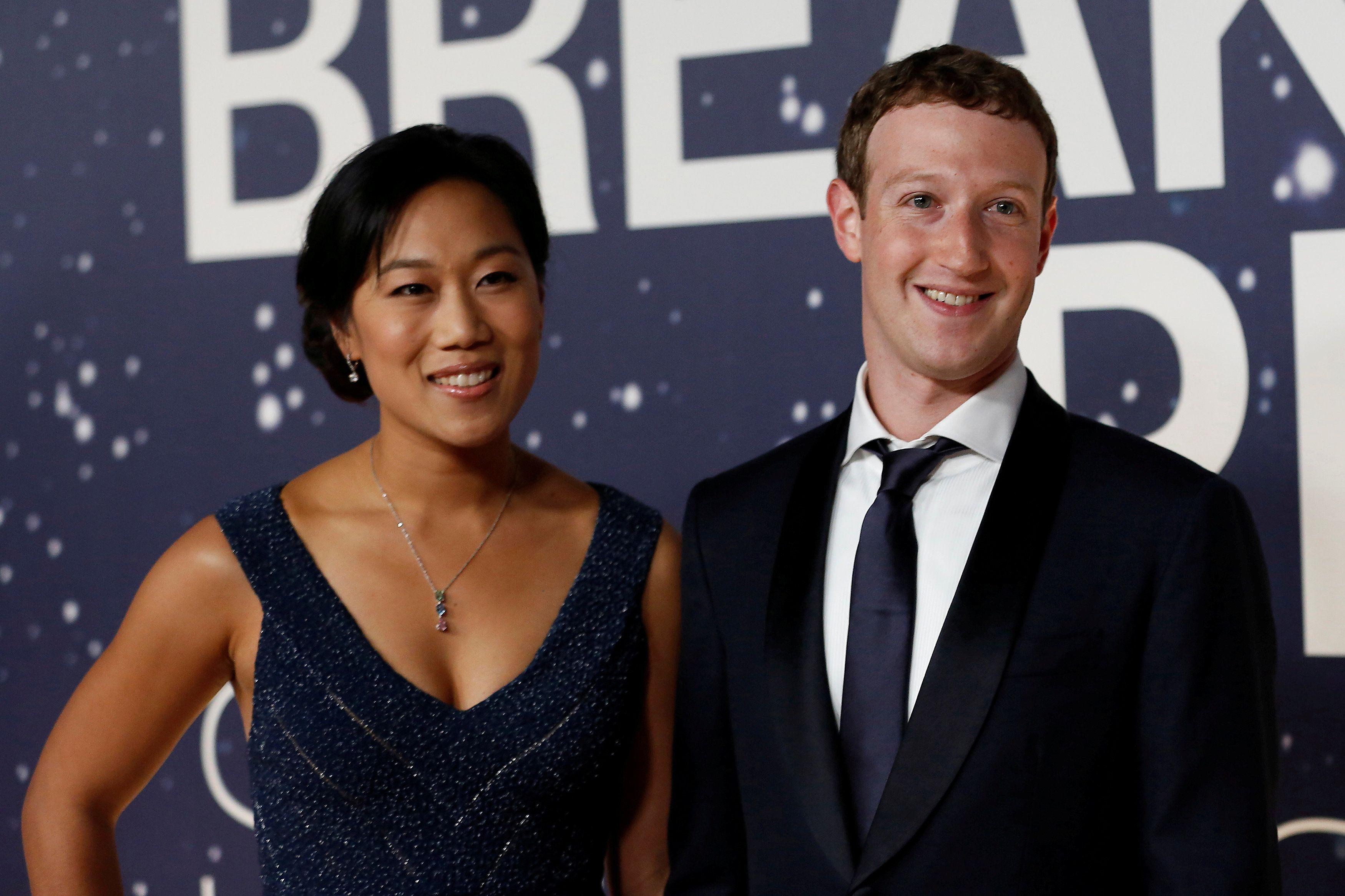 Facebook CEO Mark Zuckerberg and his wife, Priscilla Chan. Reuters