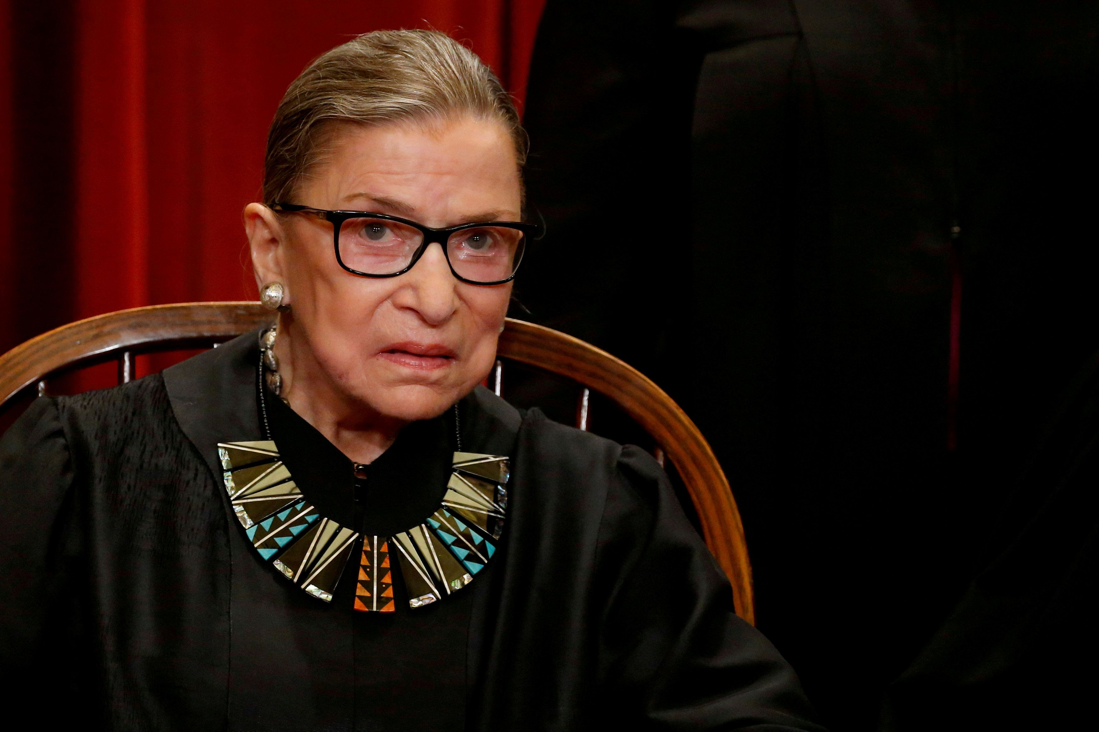 File photo of deceased US Supreme Court Justice Ruth Bader Ginsburg. Reuters