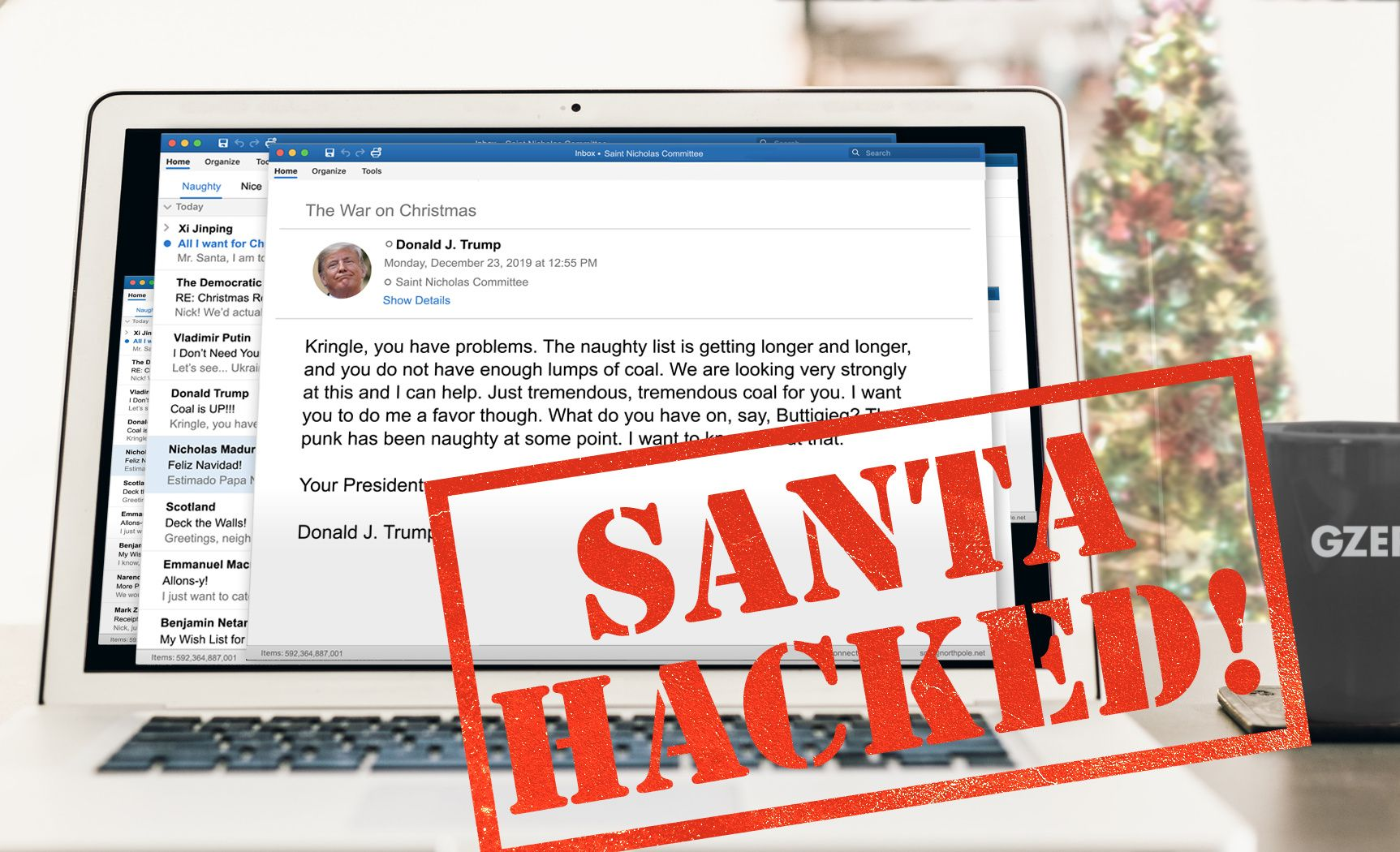 North Pole servers hacked!