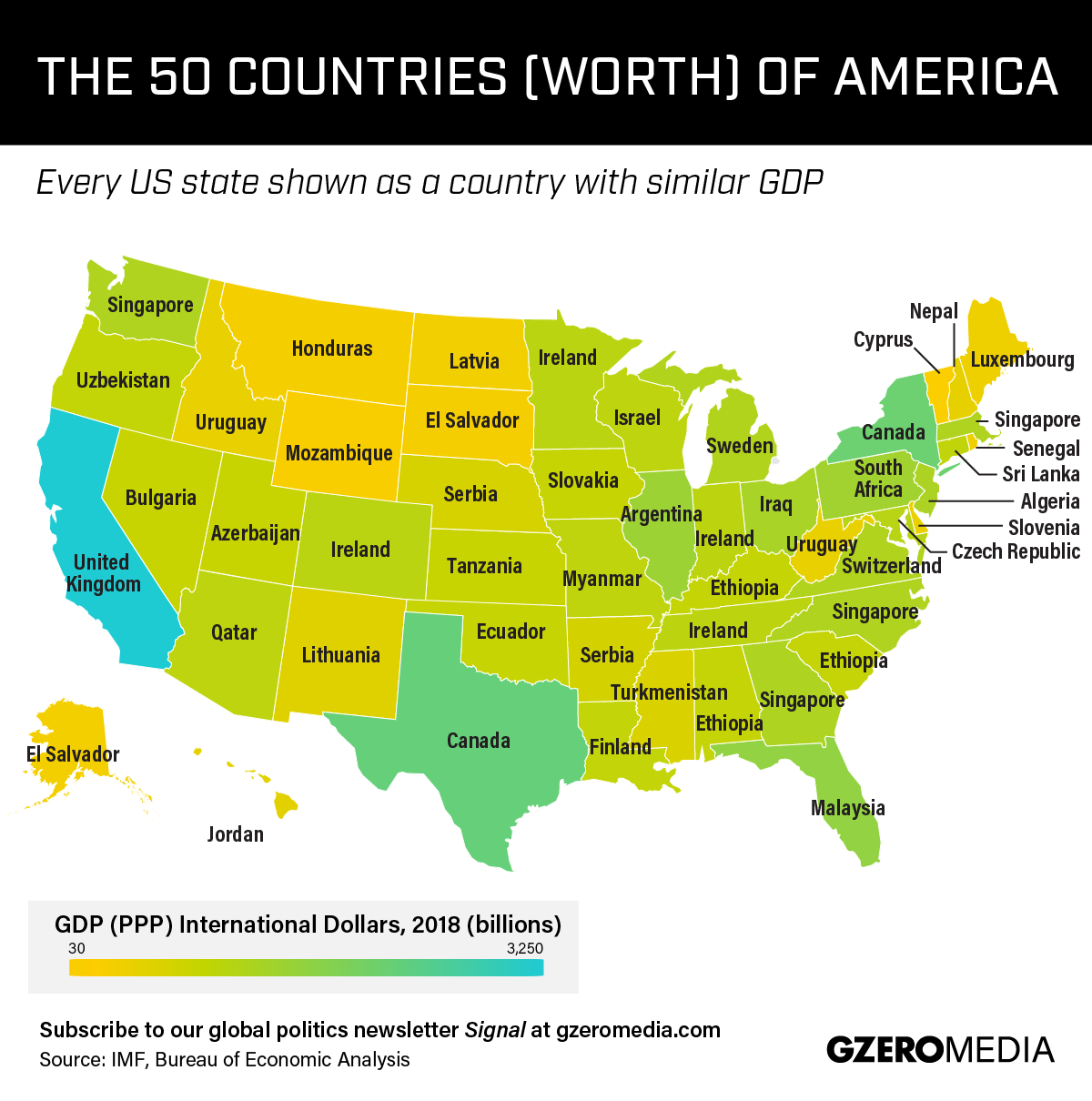 Graphic Truth: The 50 Countries (Worth) of America