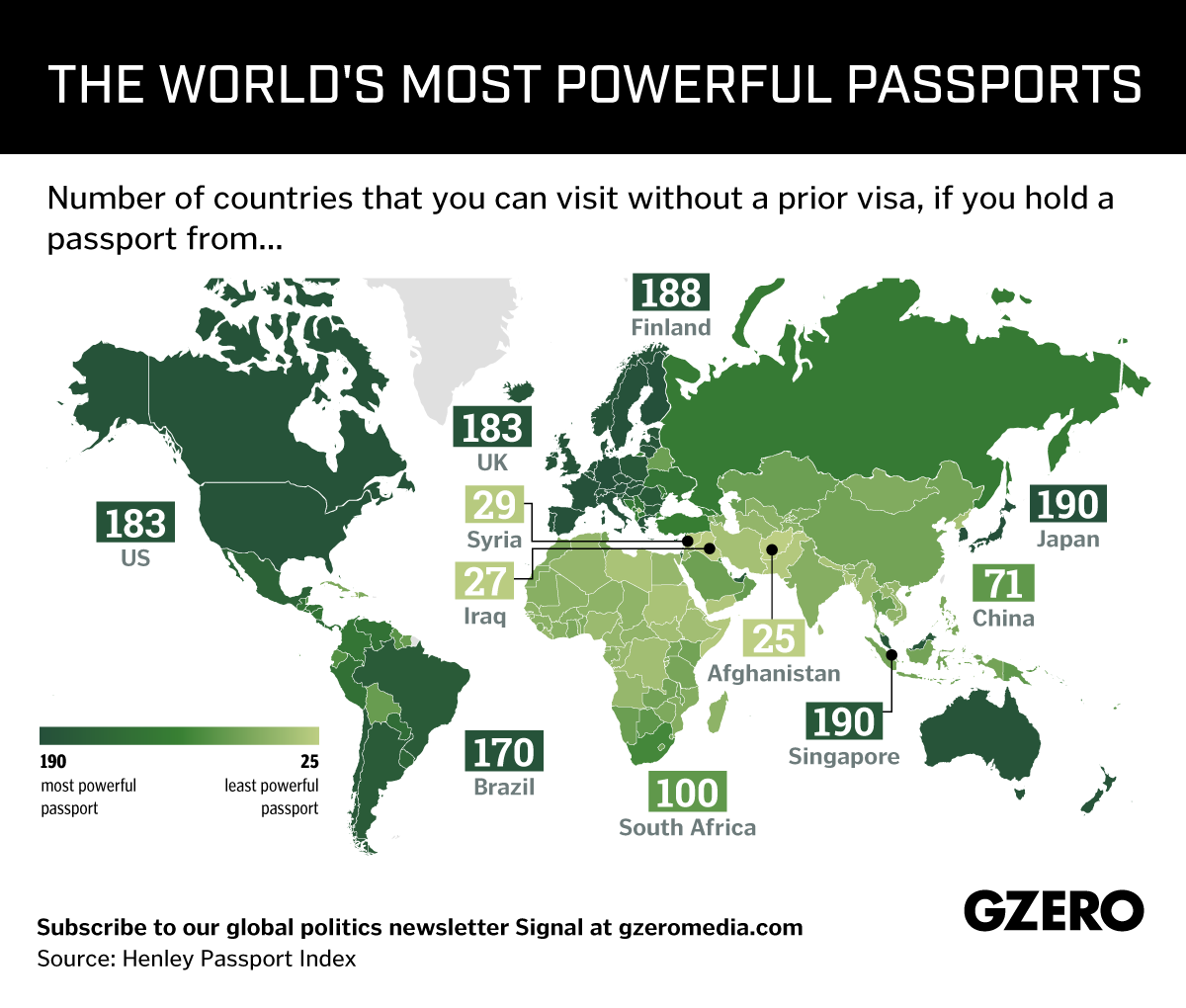 Graphic Truth: How powerful is your passport?
