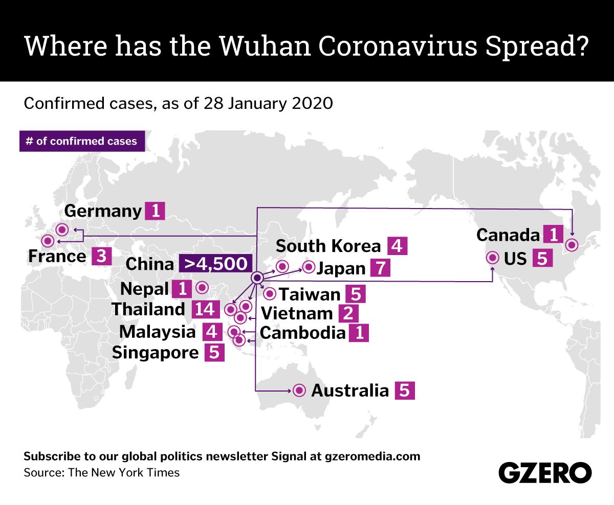 The Graphic Truth: Where has the Wuhan coronavirus spread?
