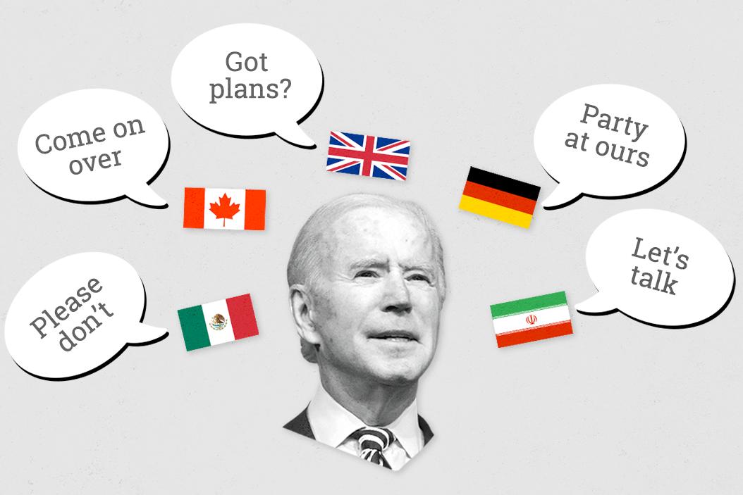 Who's Joe Biden going to visit first?