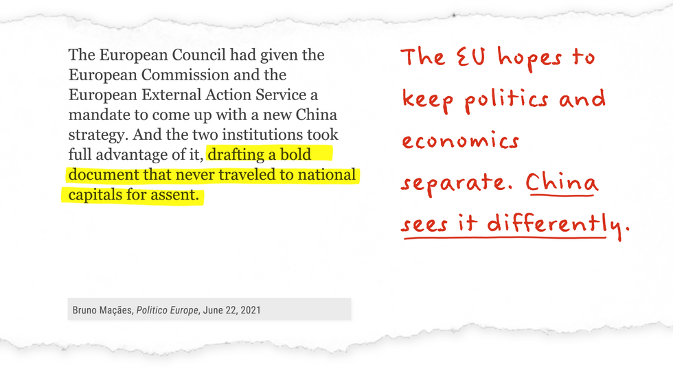 """""""...The European Commission and the European External Action Service...took full advantage of it, drafting a bold document that never traveled to national capitals for assent."""""""