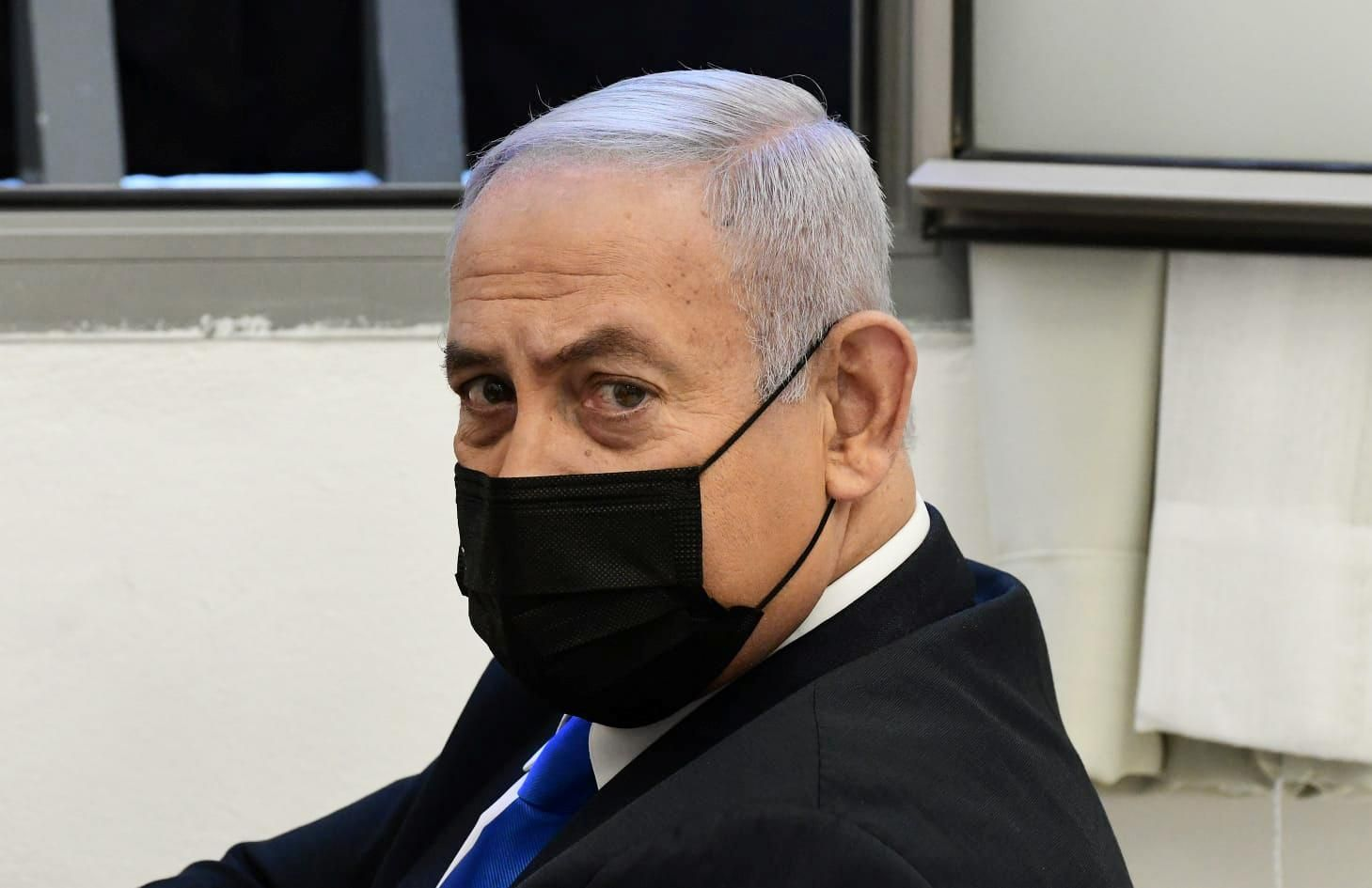 Israel's Prime Minister Benjamin Netanyahu in court