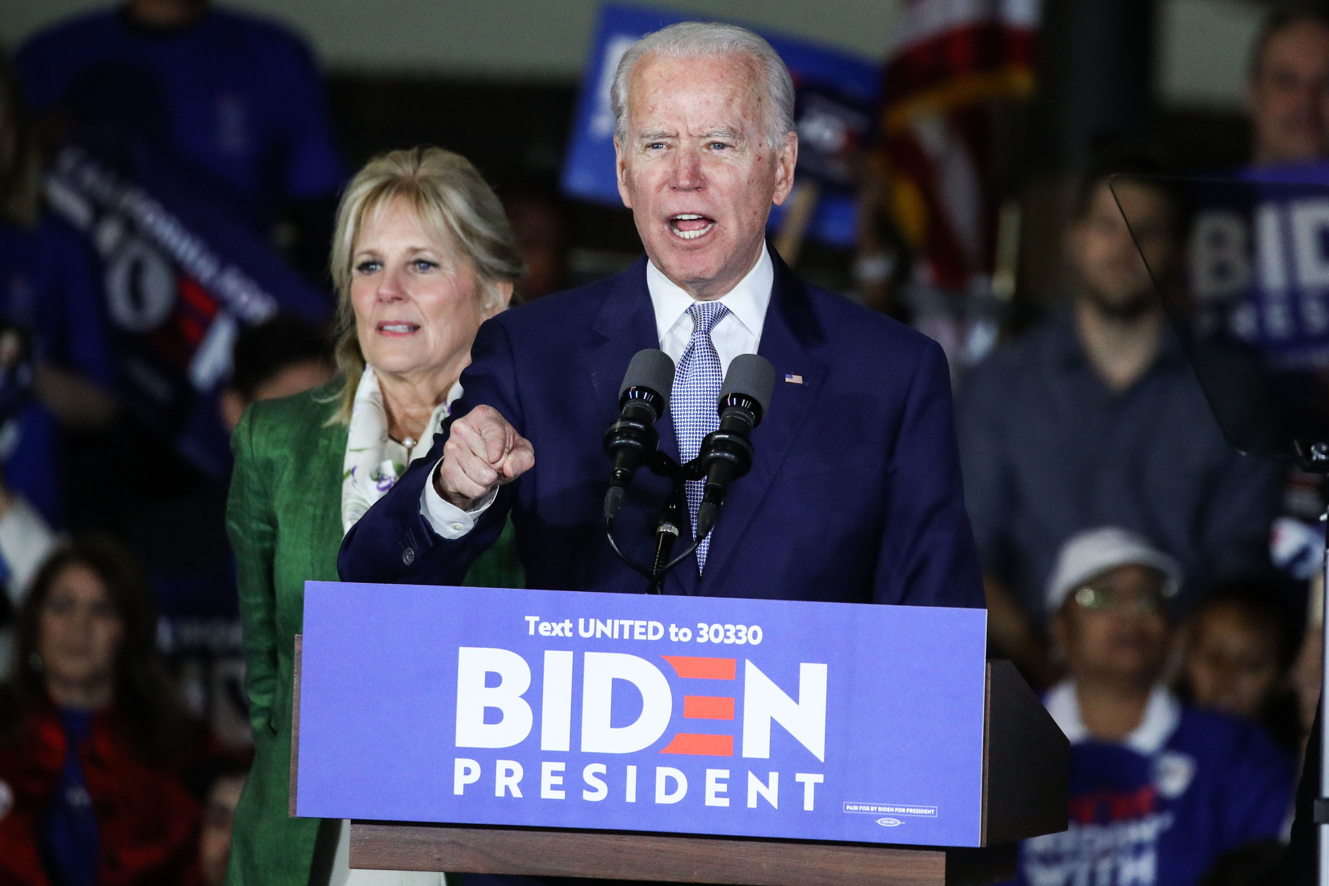 Joe Biden, the Democratic candidate for US President in the 2020 election. Reuters