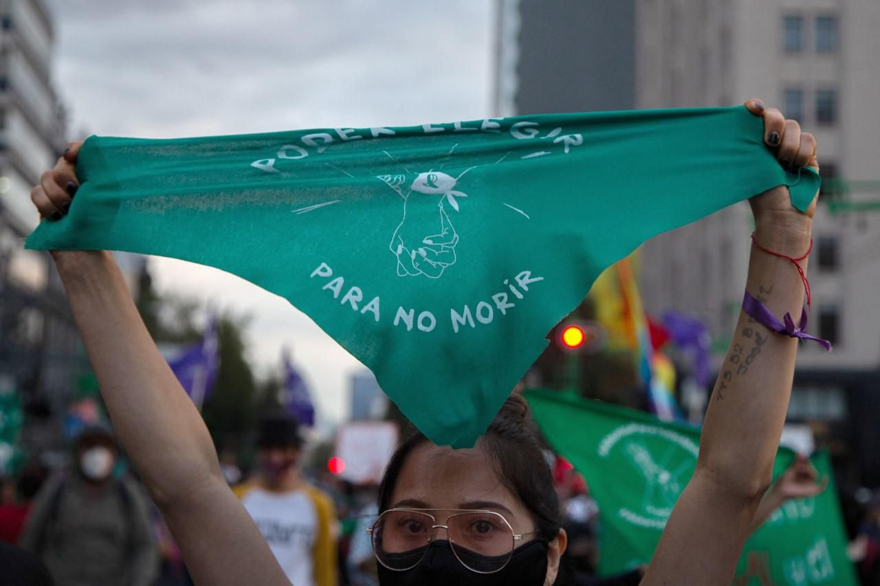 Mexican women rally for abortion rights in Mexico City. Reuters