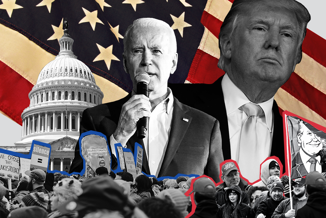 President Trump and Joe Biden will face off in the first US presidential debate on September 29. Art by Annie Gugliotta