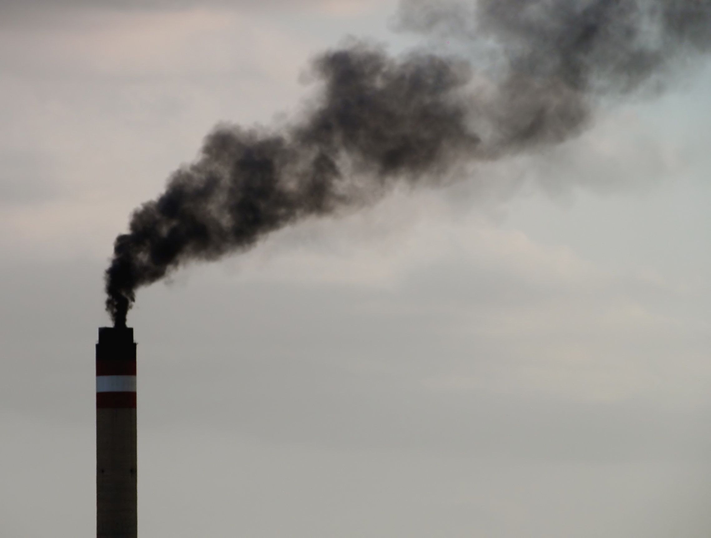 Smoke from a coal-fired power plant.