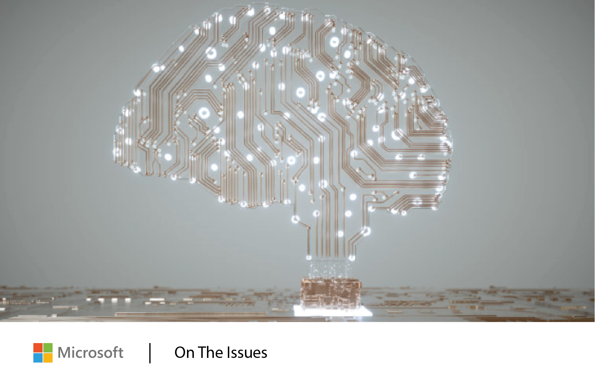 Stylized image of brain-shaped circuitry: Get the latest from Microsoft on the most pressing policy issues