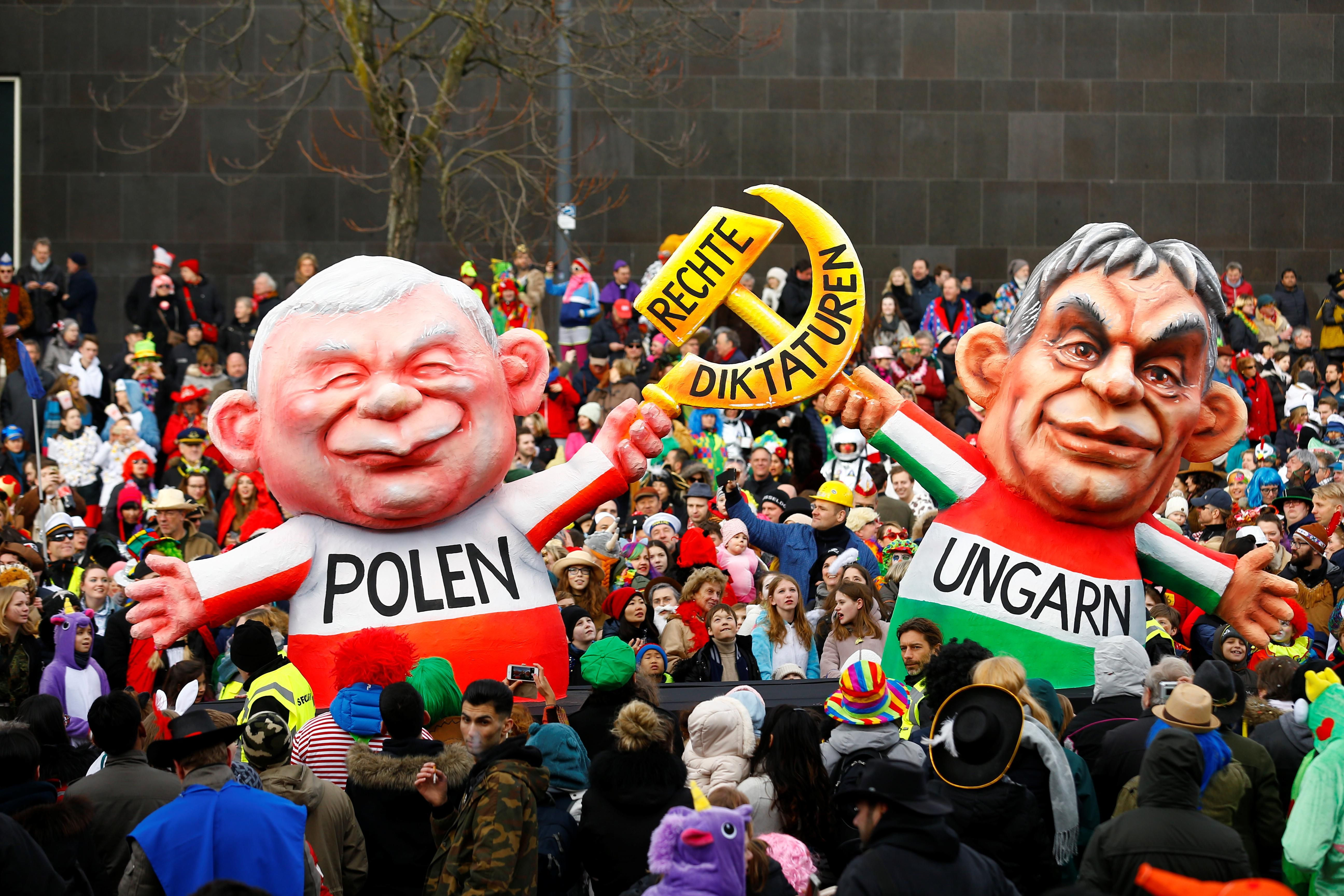 The EU takes a swing at Poland and Hungary