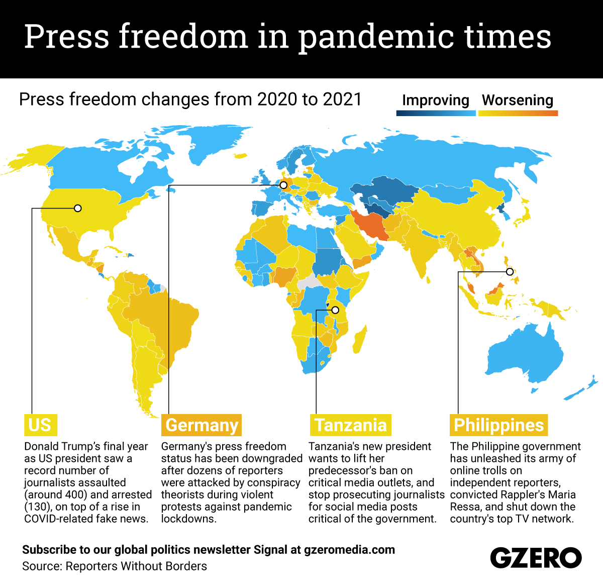 The Graphic Truth: Press freedom in pandemic times