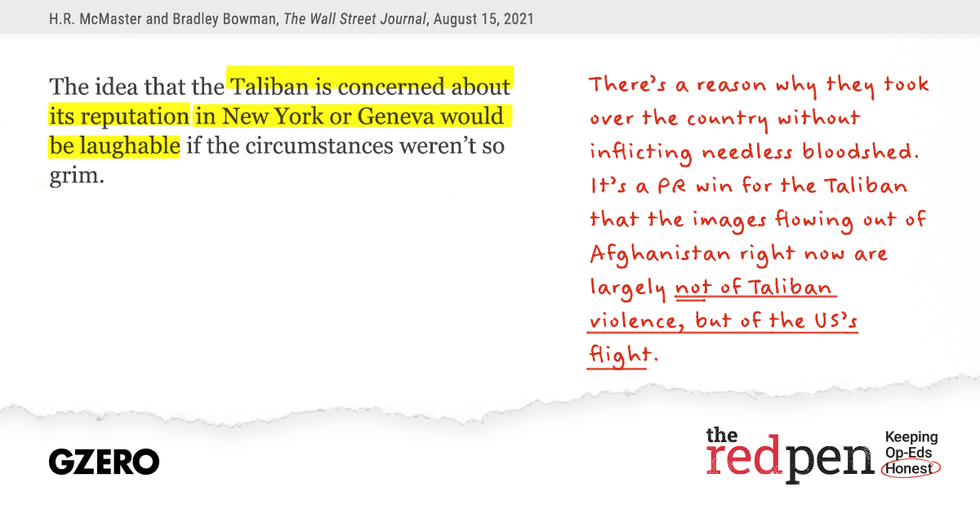 The idea that the Taliban is concerned about its reputation in New York or Geneva would be laughable if the circumstances weren't so grim.