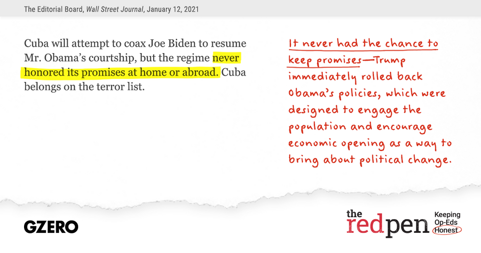 """...""""the regime never honored its promises or abroad."""" It never had the chance to keep promises."""