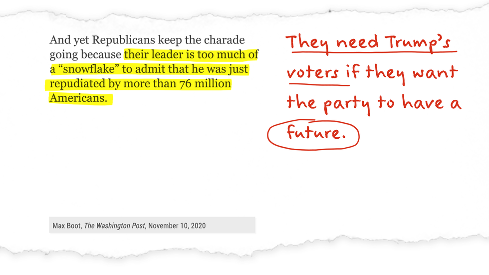 They need Trumps' voters if they want the party to have a future.